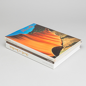 CHRISTO & JEANNE-CLAUDE, böcker 3 st, signerade exemplar.