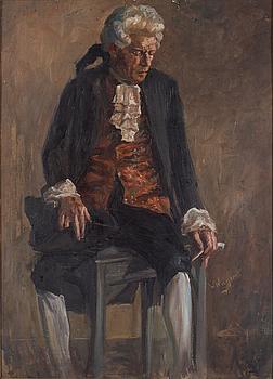 OKÄND KONSTNÄR, 18/1900-tal. Olja på pannå, signerad W Wagner.