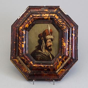 OKÄND KONSTNÄR, 1700-tal. troligen Holland, olja på pannå.