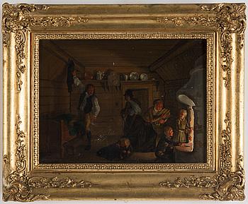 OKÄND KONSTNÄR, olja på duk, signerad G Wahlbom och daterad 1848.
