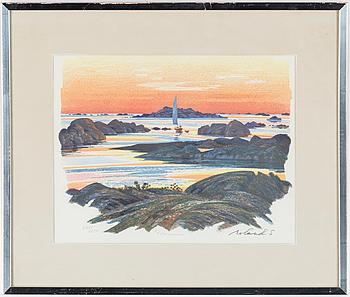 ROLAND SVENSSON, färglitografi, signerad och numrerad 205/250.