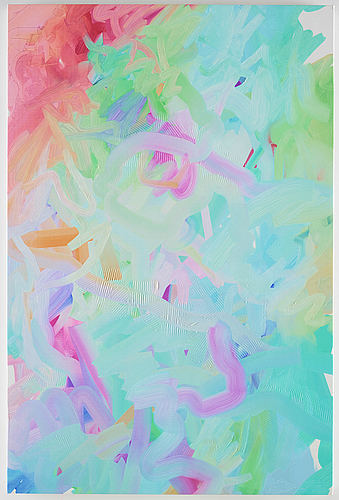 Michael manning, acrylic paint and digital print on canvas.