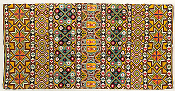 A Swedish flatweave quilt Scania around 1900 ca 218 x 109 cm.
