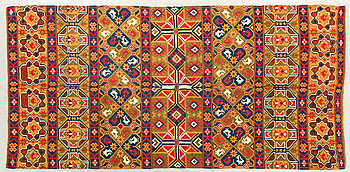A Swedish flatweave quilt dated 1847, ca 218 x 119 cm.