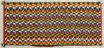A Swedish flatweave agedyna Scania mid/later part of the 19th century ca 109 x 48 cm.