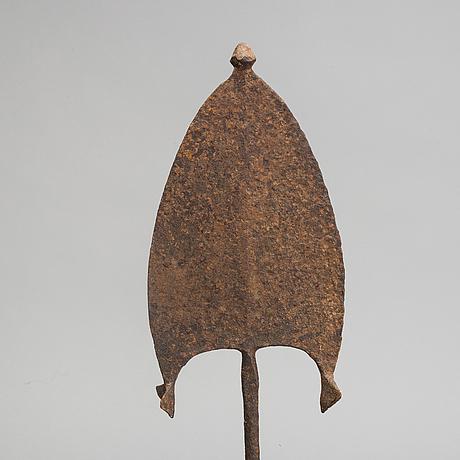 Ngbaka / nbaka spear currency, congo, africa.