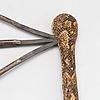 Throwing knife, zande, nzakara, central africa