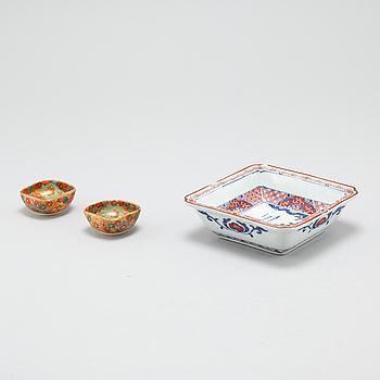 SKÅLAR, 3 st,, porslin, Japan, 1900-tal.