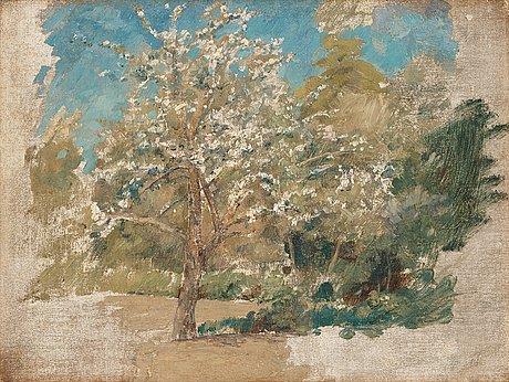 Johan krouthén, blommande fruktträd.