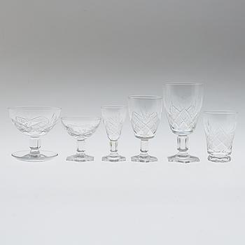 GLASSERVIS, 48 delar, glas, Sverige, 1960-tal.