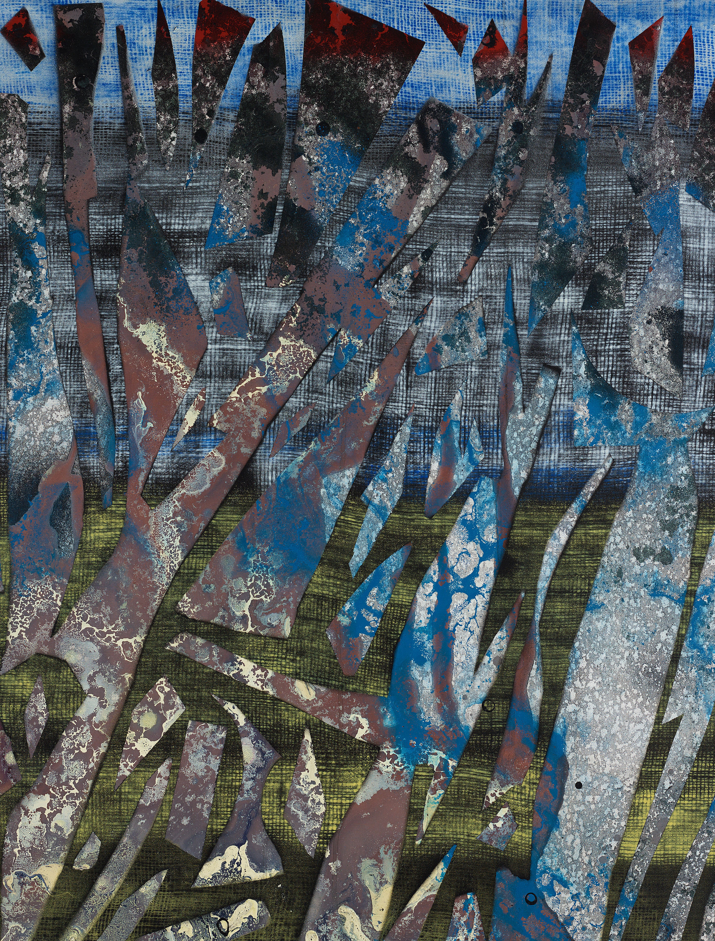 ALFRED BOMAN, signed and dated 2013 on verso  Acrylic paint