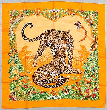 "HERMÉS, scarf, ""Jungle love""."