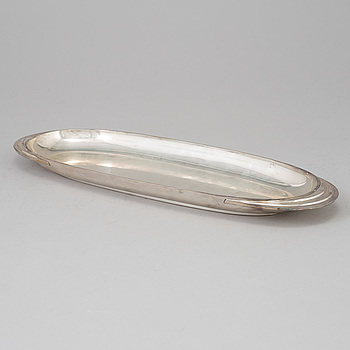 A silver dish, Borgila, Stockholm 1954. Weight ca 1109 grams.