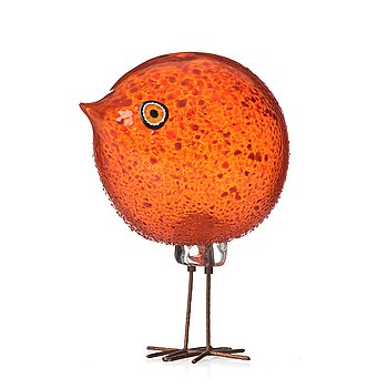 "36. Peter Pelzel, a ""Pulcino"" glass bird, Vistosi, Italy 1960's, model S 193."