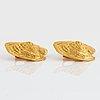 A pair of elisabeth gage earrings in 18k gold.