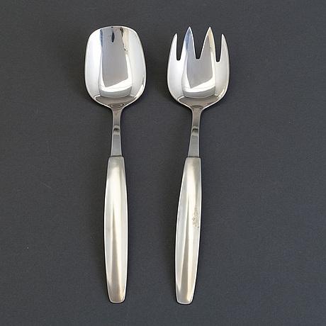 A pair of silver ware by borgila, 1956