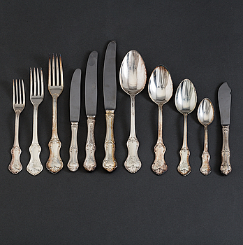 "MEMA, BESTICKSERVIS, 126 delar, silver, ""Patricia"", 1960-tal."