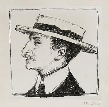 """454. Edvard Munch, """"Goldstein with hat""""."""