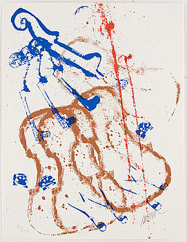 FERNANDEZ ARMAN, portfolia with 3 serigraphs in color, signed and numbered 180/200.