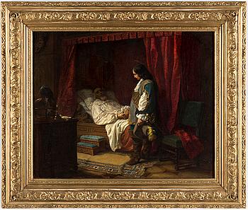 GOTTFRID VIRGIN, olja, signerad och daterad 1857.