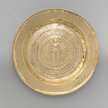 DOPFAT, mässing, troligen 1400-/1500-tal.