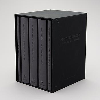 """BOKVERK, 5 volymer """"Francis Bacon, Catalogue Raisonné""""."""