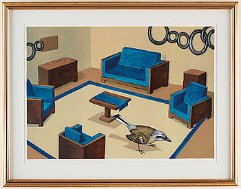 ERNST BILLGREN, lithograph in color, signed and numbered 99/150.
