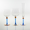 "28 glasses by erika lagerbielke for orrefors, model ""imperial"", around the year 2000"