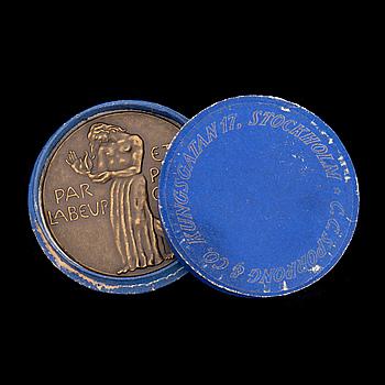 MEDALJ, brons, för svenska den svenska paviljongen vid Parisutställningen, 1925. Sporrong, Stockholm.