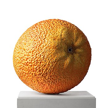 94. Hans Hedberg, a faience sculpture of a bitter orange, Biot, France.