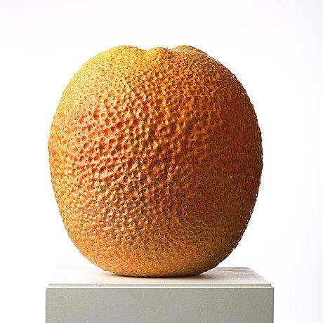 Hans hedberg, a faience sculpture of a bitter orange, biot, france.