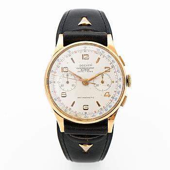 DOCKER, chronographe suisse, rannekello, 38 mm.