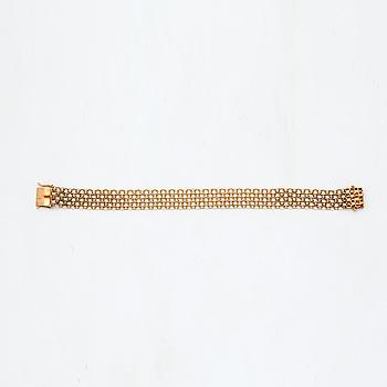 ARMBAND, 18K guld, x-länk.