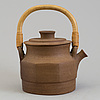 Signe persson melin, a stoneware teapot, signed and dated 1968