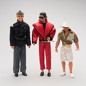 DOCKOR, 3 ST, Mattel 1968-1971, samt MJJ Production LJN Toys Ltd 1984.