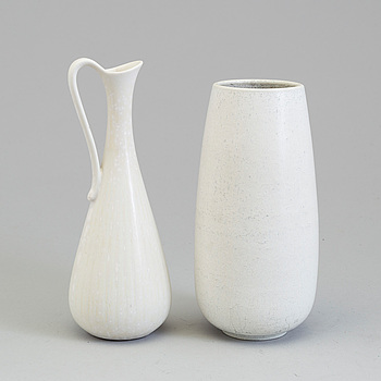 GUNNAR NYLUND, GUNNAR NYLUND, two stoneware vases from Rörstrand.