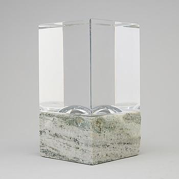 JAN JOHANSSON, skulptur, glas, Orrefors, signerad 2001. Unik.