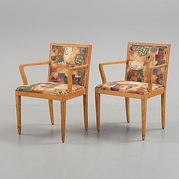 A pair of 1920s / 30s armchairs from Svenska Möbelfabrikerna in Bodafors.