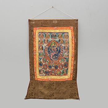 TANKA, Tibet. Omkring 1900.