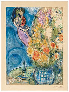 "515. Marc Chagall After, ""Les Coquelicots""."