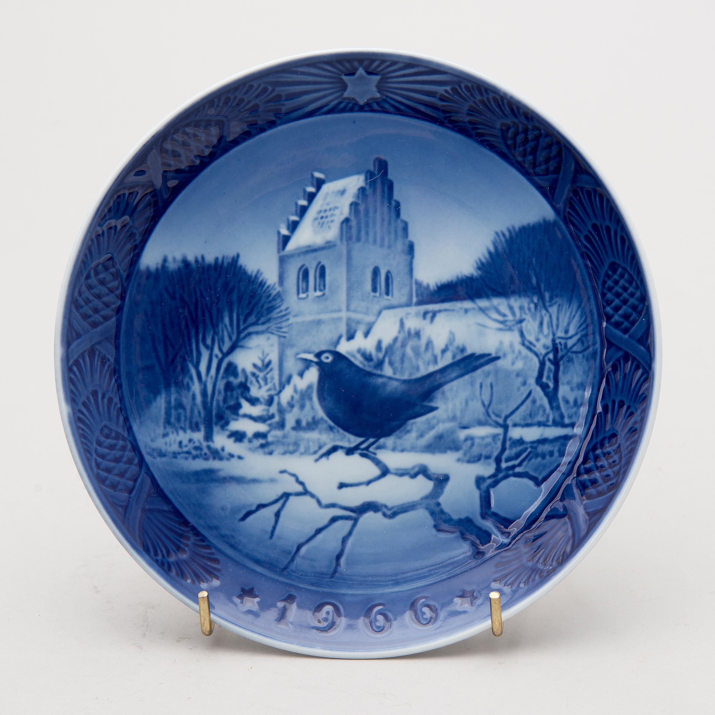 Royal Copenhagen Christmas Plates.A Set Of 38 Porcelain Christmas Plates Royal Copenhagen