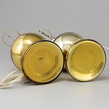 Bordslanpor, ett par, möjligen luxus, 1900-talets andra hälft.