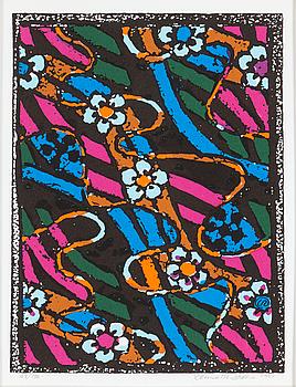 LENNART RODHE, färglitografi, signerad och numrerad 87/150. Daterad 1987.