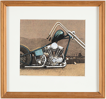 JOHN-E FRANZÉN, färglitografi, signerad och numrerad 277/320. Daterad 1988.