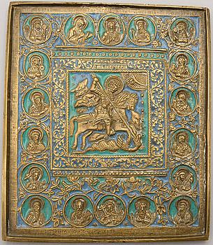 IKON, brons, Ryssland, 1800-talets andra hälft.