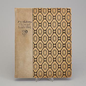 """BOK, """"Det moderna originalträsnittet"""", August Brunius, med 13 träsnitt. Utgiven 1917."""