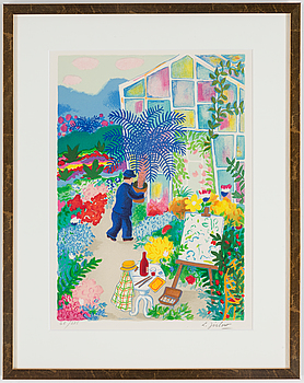LENNART JIRLOW, LENNART JIRLOW, lithograph in colours, signed and numbered 68/285.