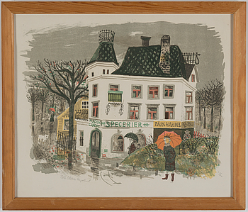 OLLE OLSSON-HAGALUND, färglitografi, signerad och numrerad 53/250.