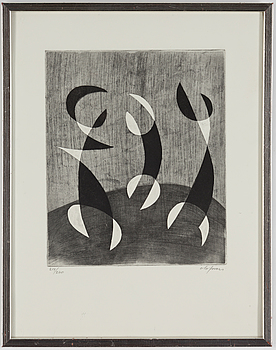 PIERRE OLOFSSON, PIERRE OLOFSSON, etching, signed and numbered 214/260.