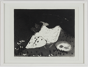 OUTI HEISKANEN, OUTI HEISKANEN, etching, signed and numbered 39/50.
